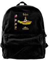 ingrosso sacchetti di laptop gialli-The Beatles Yellow submarine 11 Fashion Canvas Shoulder Backpack per uomo Donna Teens College Travel Daypack Zaino Borsa per laptop