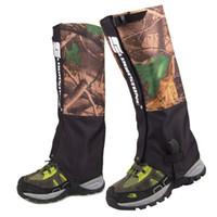 caminhadas impermeáveis a poltronas venda por atacado-Unisex Waterproof Legging Gaiter Cobertura da Perna Camping Caminhadas Ski viagem bota de neve sapatos Caça Escalada polainas à prova de vento