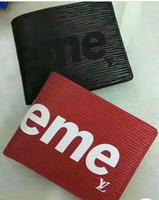 billetera de cuero hombre marca al por mayor-4512 alta calidad Mens Brand Wallet envío gratis de cuero de los hombres con las carteras para los hombres monedero de la cartera de los hombres Wallet sin caja bolsa de polvo