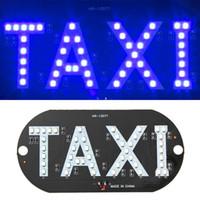 pára-brisas azul venda por atacado-Venda quente Mais Novo Táxi Levou Luz do Táxi Do Parafuso Prisioneiro Do Carro Cabine de Windscreen Lâmpada Azul LEVOU Luz Táxi lâmpada 12 V