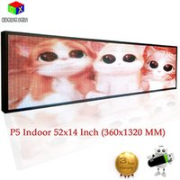 Wholesale Scrolling Screen Display Led - P5 Indoor full color LED display 1320X360mm scrolling text,video LED screen