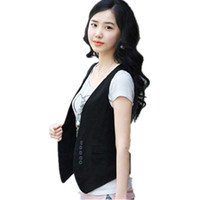 Wholesale cheap work clothes - Factory Direct Sale Formal Office Waistcoat Vest for Women Black Work Vests V-Neck Career Work Female Vest Cheap Clothing China