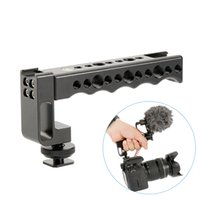 Wholesale shoes for cold - Camera Top Handle Grip Hot Shoe Mount with Dual Cold Shoe Base Video Stabilizing for DSLR Cameras