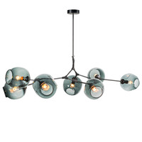 mutfak yemek odası aydınlatması toptan satış-Dallanma Kabarcık Led Kolye ışıkları Altın / Siyah Vücut Nordic Yemek Odası Mutfak Işık Tasarımcı Asılı Lamba AC110V 220 V