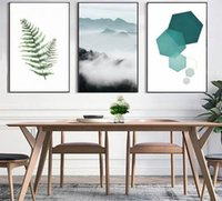 Wholesale geometry pictures - Abstract Landscape Geometry Canvas Paintings Modern Nordic Style Scandinavian Wall Art Poster Picture for Living Room Home Decor