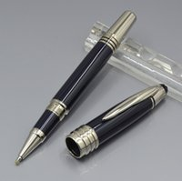 ofis kalem kutusu toptan satış-high quality JFK Dark Blue metal Roller ball pen   Ballpoint pen   Fountain pen office stationery Promotion Write ink pens Gift ( No Box )