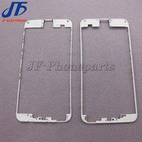 Wholesale iphone middle frame bezel hot glue online - 10pcs Front Frame Middle Bezel LCD Supporting Frame With hot glue For iPhone p