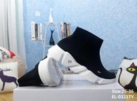 Wholesale white gold toe socks - Wholesale kids High-top Sneakers Luxury Sock Shoes Speed High Slip on Sneakers Stretch Knit Jogging Outdoor kids Running Shoes Size:25-35