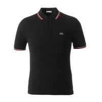Wholesale hand embroidered shirts - 2018 embroidered striped Polo shirt high quality men's pony embroidered cotton short sleeve shirt brand sweatshirt, summer men's Polo shirt