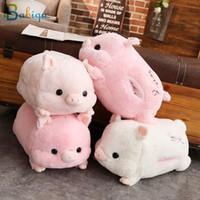 muñecas de amor de felpa al por mayor-1 unid 50 cm Soft Kawaii Love Pig Plush Pillow Stuffed Cute Animal Cushion Hand Warmer Chinese Zodiac Pig Toy Doll Regalo de cumpleaños Kid