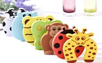 Wholesale door stoppers wholesale for sale - New Care Child kids Baby Animal Cartoon Jammers Stop Door stopper holder lock Safety Guard Finger styles
