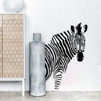 Wholesale zebra wall decorations - New Black Zebra DIY Wall Stickers Wall Poster Art Decor Animal Stickers Home Decoration Free shipping
