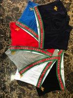 Wholesale soft elastic wholesale - New Men Boxer Shorts Sexy Underpants Young Soft Comfortable Fashion Elastic Famous Brand Boxer Underwear For Men 3 pcs