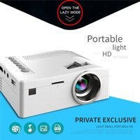 Wholesale usb media player resale online - UC18 Mini LED Projector Portable Pocket Projectors Multi media Player Home Theater Game Supports HDMI USB TF Beamer Drop shipping