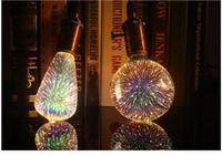 Wholesale Led Garden Decorations - free ship Led Light Bulb 3D Decoration Bulb E27 6W 110-240V Holiday Lights ST64 G95 G80 G125 A60 Novelty Christmas Lamp Lamparas