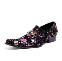 ingrosso scarpe da sera in pelle-2018 Hot Style Luxury Evening Wedding Shoes Scarpe oxford per uomo nero in vera pelle uomo punta a punta scarpe eleganti tacco alto H61