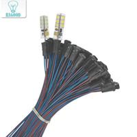 portalámparas g4 al por mayor-10 unids 50 cm G4 llevó el sostenedor de la lámpara del sostenedor de la lámpara del ahorro de energía con el zócalo del zócalo del zócalo del zócalo del cable
