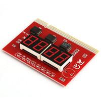 anakart gönder toptan satış-PC Masaüstü Bilgisayar Anakart LED 4 Haneli Analiz Teşhis Testi POST Kart PCI Yüksek Kalite