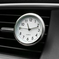 часы украшения оптовых-Автомобиль Орнамент Автомобилей Украшения Интерьера Часы Авто Часы Автомобильные Вентиляционные Отверстия Клип Освежитель Воздуха Часы В Автомобильные Аксессуары Подарки