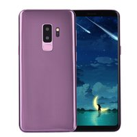 Wholesale german charger - Purple Goophone 9 Plus 4G LTE Octa Core Face ID 6.3 inch 1440*2560 Android 7.0 1GB 16GB+32GB Iris Back Fingerprint 13.0MP Camera Smart Phone