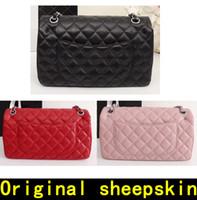 Wholesale sheepskin handbags - Luxury Handbags High quality Original sheepskin Real Leather chain Designer Handbags Famous Brands handbag Women bags fashion Shoulder Bags