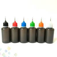 botellas de agujas negras al por mayor-Botella de Líquido de Color Negro con Aguja E 10ml 30ml Botellas de Llenado de Plástico Suave y Vacío LDPE Squeezable Líquido Cuentagotas con Punta de Aguja Aceite de Jugo DHL Gratis