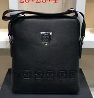 ipad messenger achat en gros de-2018 marque hommes en cuir véritable épaule Messenger Bag Flap ipad hommes style sac solide mâle Business