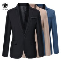 coreano casual blazers para homens venda por atacado-New Mens Marca Blazer Coreano casual Slim fit terno moda jaqueta de casamento dos homens Blazers One Button mens casaco terno masculino