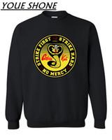 warme kostüme großhandel-Verano Cobra Kai Sweatshirts Männer Karate Jersey Pullover Herbst Winter Warm Mamba Cosplay Kostüm Kobe Bryant Sportwear Mantel Plus Größe