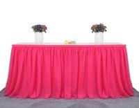 laranja penas ganso venda por atacado-183x77 cm tule saia de mesa pano para festa de casamento decoração de festa de aniversário / chiffon gaze de noiva véu de noiva