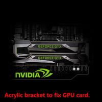 corregir la tarjeta de video al por mayor-Uso del soporte de acrílico a medida para la tarjeta Brace GPU con placa de luz RGB Tamaño 280 * 45 * 6 mm Uso para tarjeta de video fija en el estuche