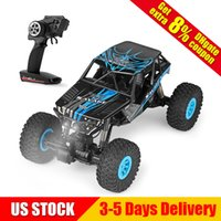 Wholesale rc models cars - RC Car Remote Control 2.4G 4WD Climbing Rock Crawler Model Off-Road Vehicle Wltoys 10428-D 1:10 Electric Toy 25KM H