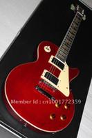 ingrosso migliori chitarre di vendita-Negozio personalizzato Spedizione gratuita best-seller in mogano vino rosso standard chitarra elettrica Impressionante suono OEM