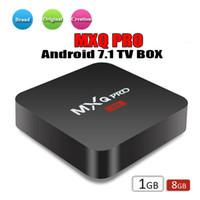 quad factory großhandel-Fabrik Verkauf OEM MX2 MXQ PRO 4 Karat RK3229 Quad Core Android 7.1 TV BOX Mit Customized 17,5 4 Karat Media Player