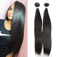 Wholesale Best Selling Hair Color - Best Selling Hair bundles 100% 9A Brazilian Remy Virgin Human Hair Weft Silky Straight Natural Color Free Shipping Julienchina Bella Hair