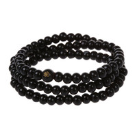 будда деревянная цепь оптовых-108 pcs 6*530mm Black Wood Buddha  Long necklace Buddhism Strand Chain Mala Bracelet Jewelry