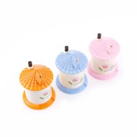 Wholesale pocket toothpick holders - 1pcs 3 Colors 9*7cm BoxHouse Shaped Automatic Toothpick Holders Cute Pocket Small Toothpick Holder