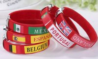 Wholesale discount bracelets online - Discount Company activities gifts World Cup flag bracelets Souvenirs Spanish wrists bracelets gifts students fansundefined supplies