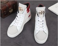 Wholesale mens style shoes high ankle online - 2018 New style Fashion Superstar High Top Mens Sneakers Shoes Casual Rivet Flats Men s Trainers Lace Up Ankle Boots Spiked Shoe J94