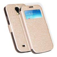 étuis de téléphone en métal galaxy s4 achat en gros de-Pour Samsung Galaxy S i9500 S IV Téléphone Cas De Luxe Smart PU En Cuir Cas Flip Pour Samsung galaxy S4 cas Coque Couverture