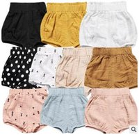 Wholesale baby boys denim shorts - Ins Baby Shorts Toddler PP Pants Boys Casual Triangle Trousers Girls Summer Bloomers Newborn Briefs Nappy Boutique Underpants Clothes TX07