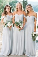 Wholesale dresses for bridesmaids for sale - Group buy Simple Chiffon Bridesmaid Dresses For Weddings Off Shoulder Ruched Draped Sash Crystal Sweetheart Long Custom Prom Gowns Party Cheap