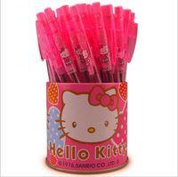 bolas vermelhas de plástico venda por atacado-20 pçs / lote Red hot vender HK caneta esferográfica Barril presente caneta de plástico Transparente esferográfica Crianças aprendendo suprimentos GT181