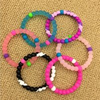 Wholesale wristband for balance - Kids silicone balance bracelet wholesale Color beads wristband for children and adults C2873