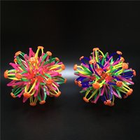 Wholesale magic cans - 2018 New Mini Expanding Sphere Ball Toys Rainbow Flower Magic Ball For Children Kids XMAS Party Favor Gifts Can Custom FBA Ship HH7-469
