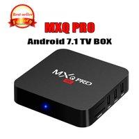 ingrosso fabbrica personalizzata-Factory Sale OEM MX2 MXQ PRO 4K RK3229 Quad Core Android 7.1 TV BOX con lettore multimediale 17.5 4K personalizzato