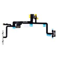 Wholesale iphone power volume button flex resale online - 50PCS For iPhone S C Plus S Plus Plus Power On Off Switch and Volume Button Flex Cable Replacement Parts With Free DHL Shipping