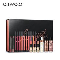 маркерные карандаши оптовых-Два о.24k розовое золото эликсир кожи составляют масло + губы лайнера + губы карандаш + жидкость маркер макияж набор Рождественский подарок