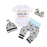 Wholesale Owl Baby Pants - clothing sets baby,Baby boy's four-piece suit with printed letters + pant owl animal prints.baby jumpsuit toddler. kids clothing fashion