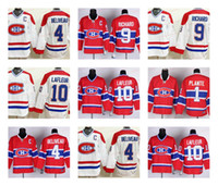 Wholesale maurice white - CCM Montreal Canadiens Hockey 4 Jean Beliveau 9 Maurice Richard 10 Guy Lafleur Jerseys Stitched